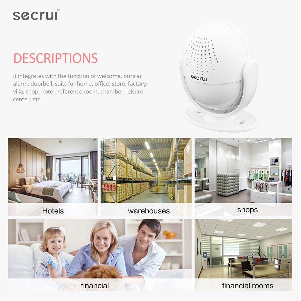 SECRUI M6 Doorbell Alarm Host Welcome Security Burglar IR Detector Alarm System