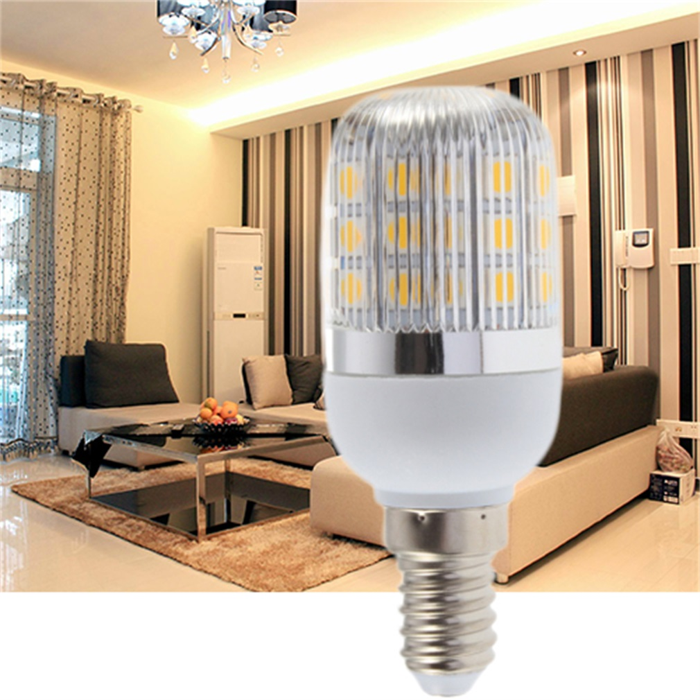 E14 4W 27 LED Warm White 110V Corn Lamp With Streak Cover