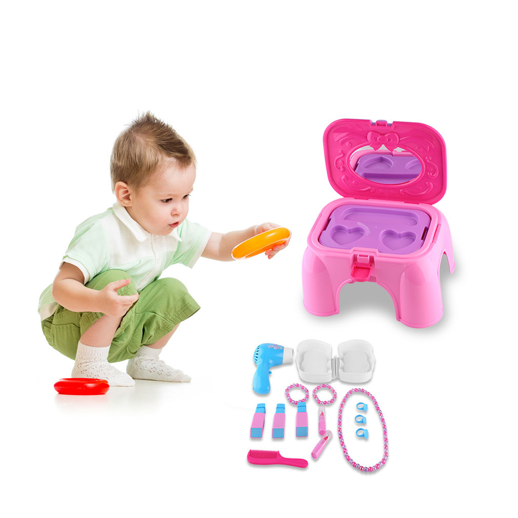 Baby Girls Children Mini Chair Dresser Table Toys Birthday Gifts For Kids