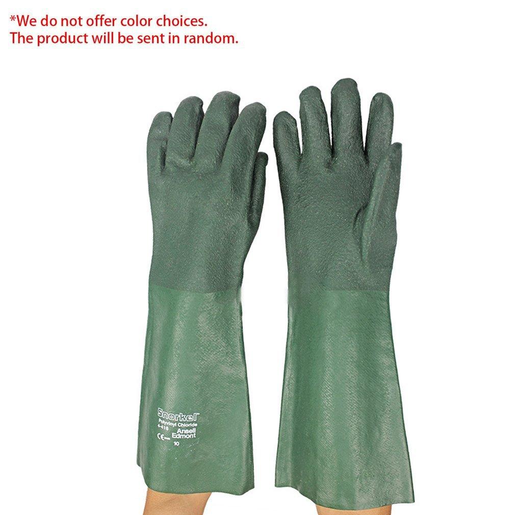 PVC Industrial Acid/Alkali Resistant Working Gloves Oil Resistant Gloves