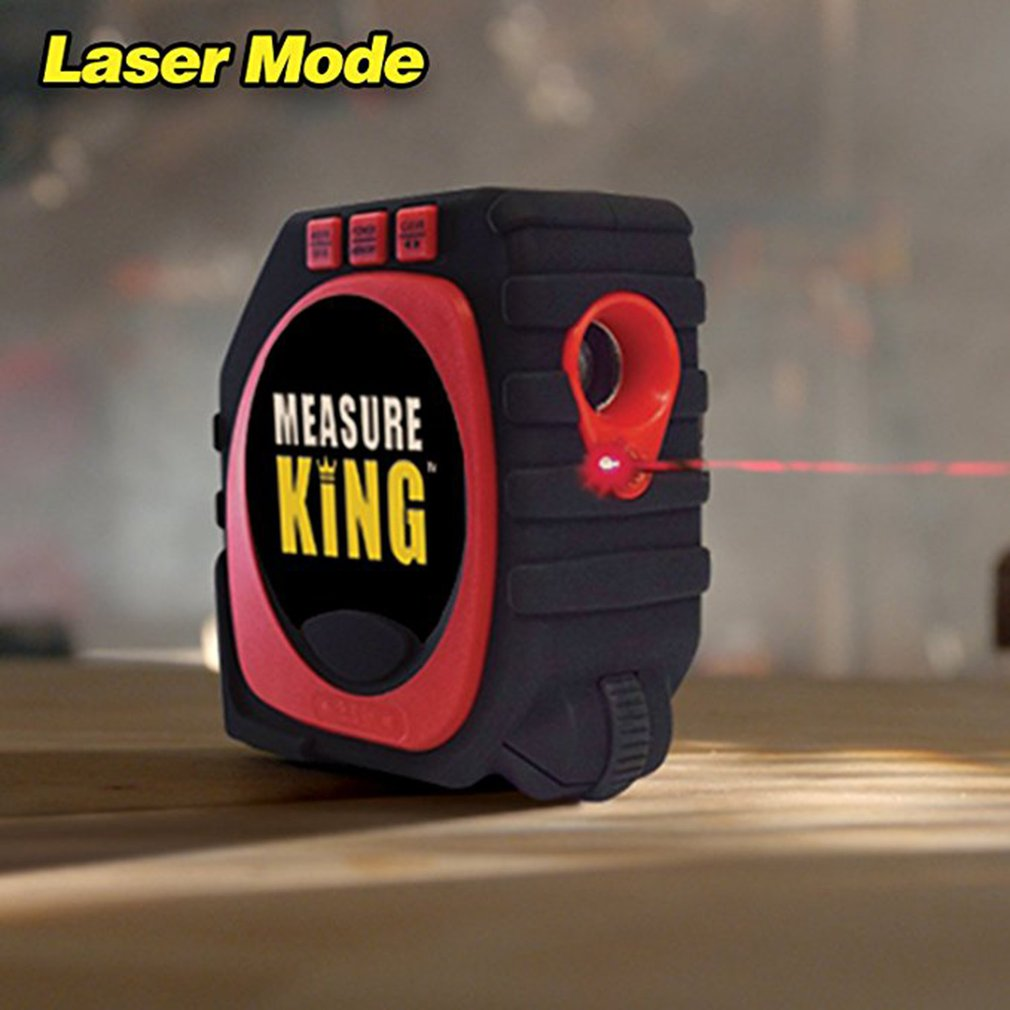 3-in-1 Measuring Tape Roll & Cord Mode High Precise Laser Digital Measure Tape
