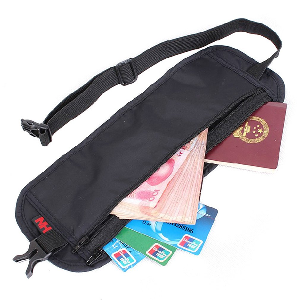 Ultra-Thin Waist Bag Travel Packs Hidden Pockets Personal Outdoor Money Belt