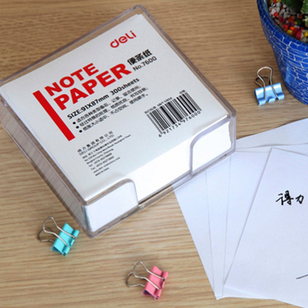 Deli Memo Papers 7700 White 300 Sheets 91x87mm Message Pad School Supplies
