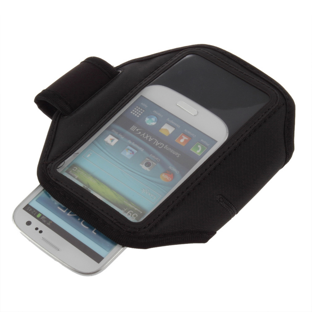 Black Sport Gym Running Armband Case Cover for Samsung Galaxy S3 i9300 T999