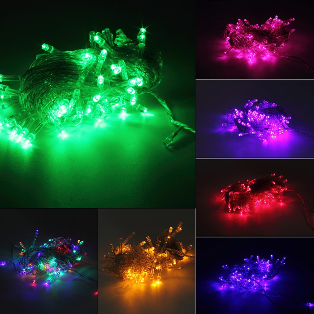 10M 100LED Holiday Christmas Party String Fairy Outdoor Garden Lights Decor