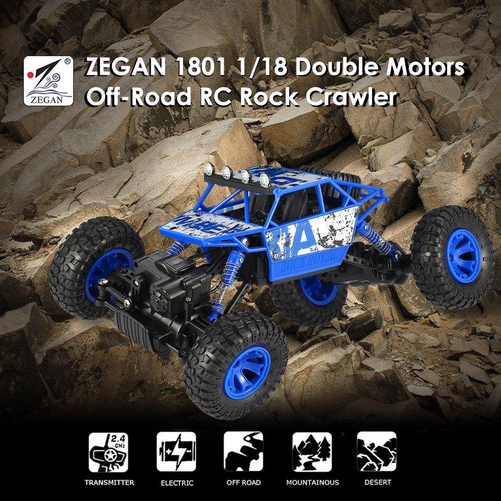 ZEGAN 1801 2.4GHz 1/18 Scale 4WD Double Motors Off-Road RC Rock Crawler