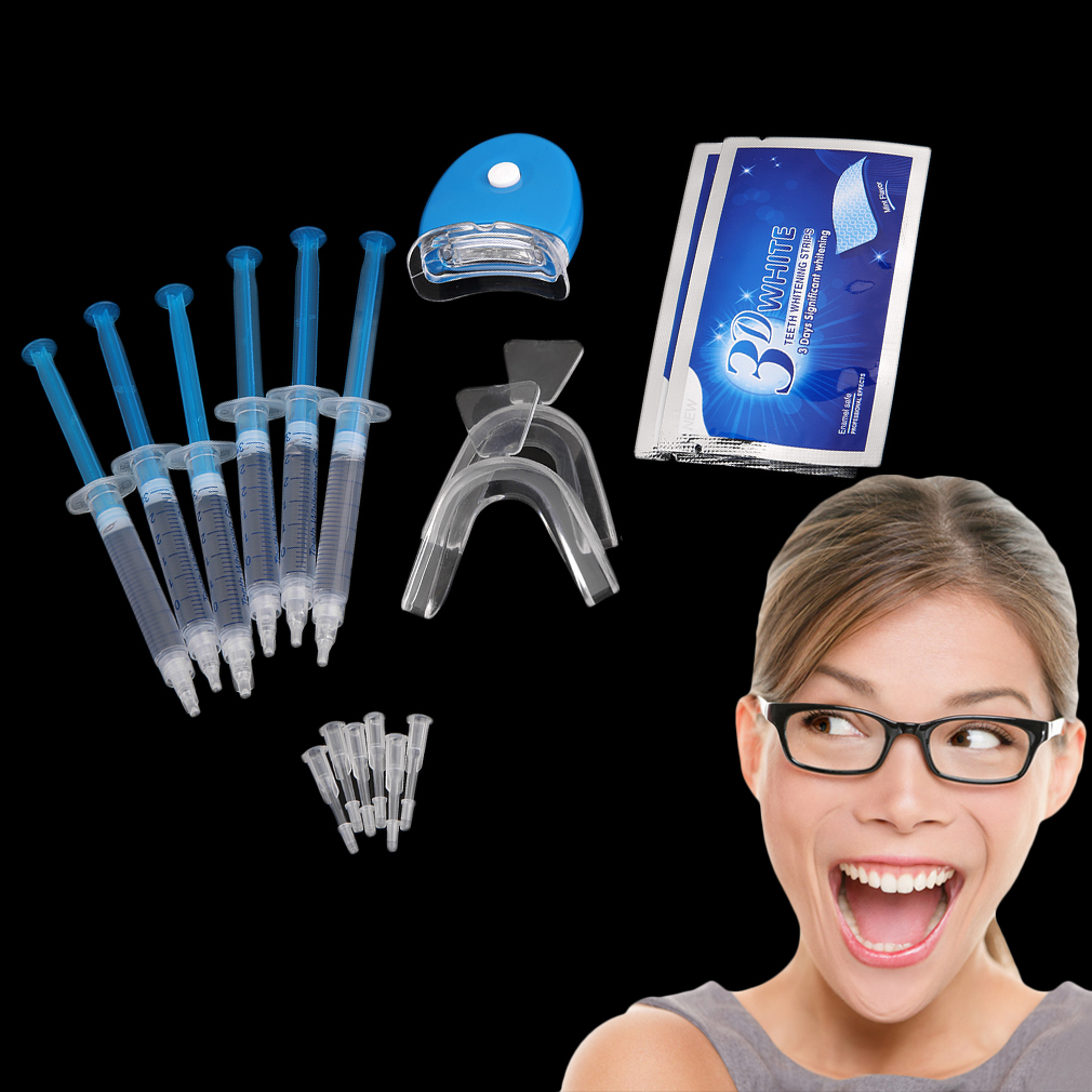 Teeth Whitening Kit 6 Pieces Whitening Gel And 2 Pair Tooth Whitening Strip