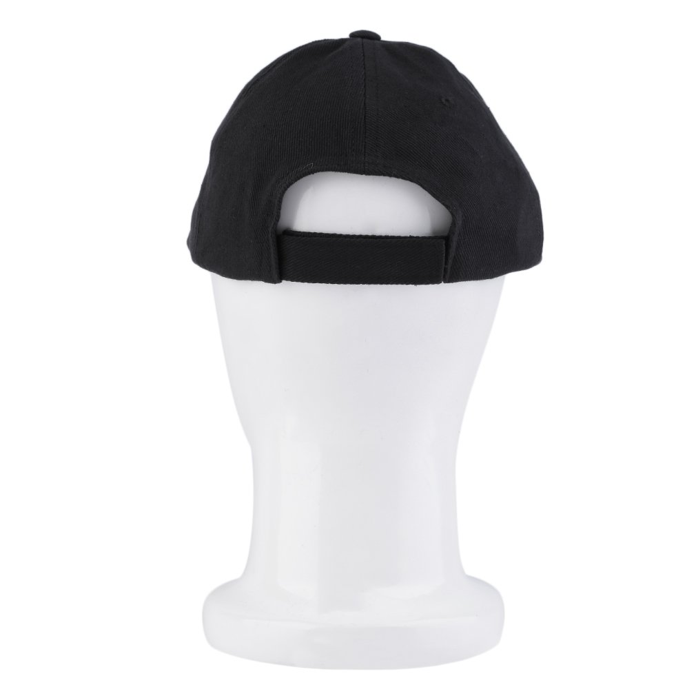 Fashion LED Lighted Glow Club Party Sports Athletic Black Fabric Hat Cap