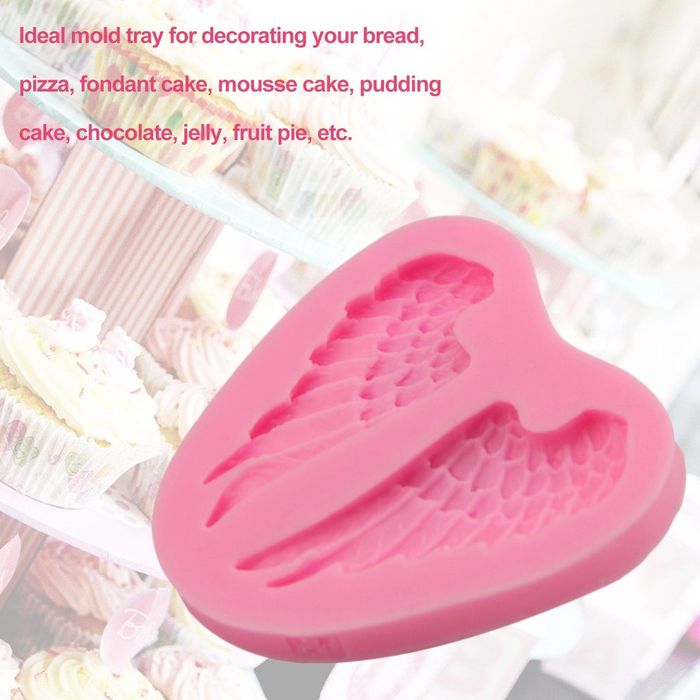 Angel Wings Shape Mold 3D Silicone Cake Fondant Mold Non-Stick Decorating Tool
