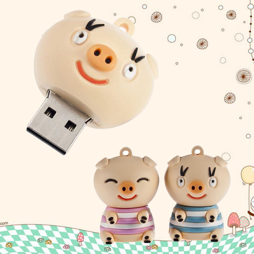 Cartoon Stand Pig USB Flash Memory Drive lovely Pig U Disk Pen Drive