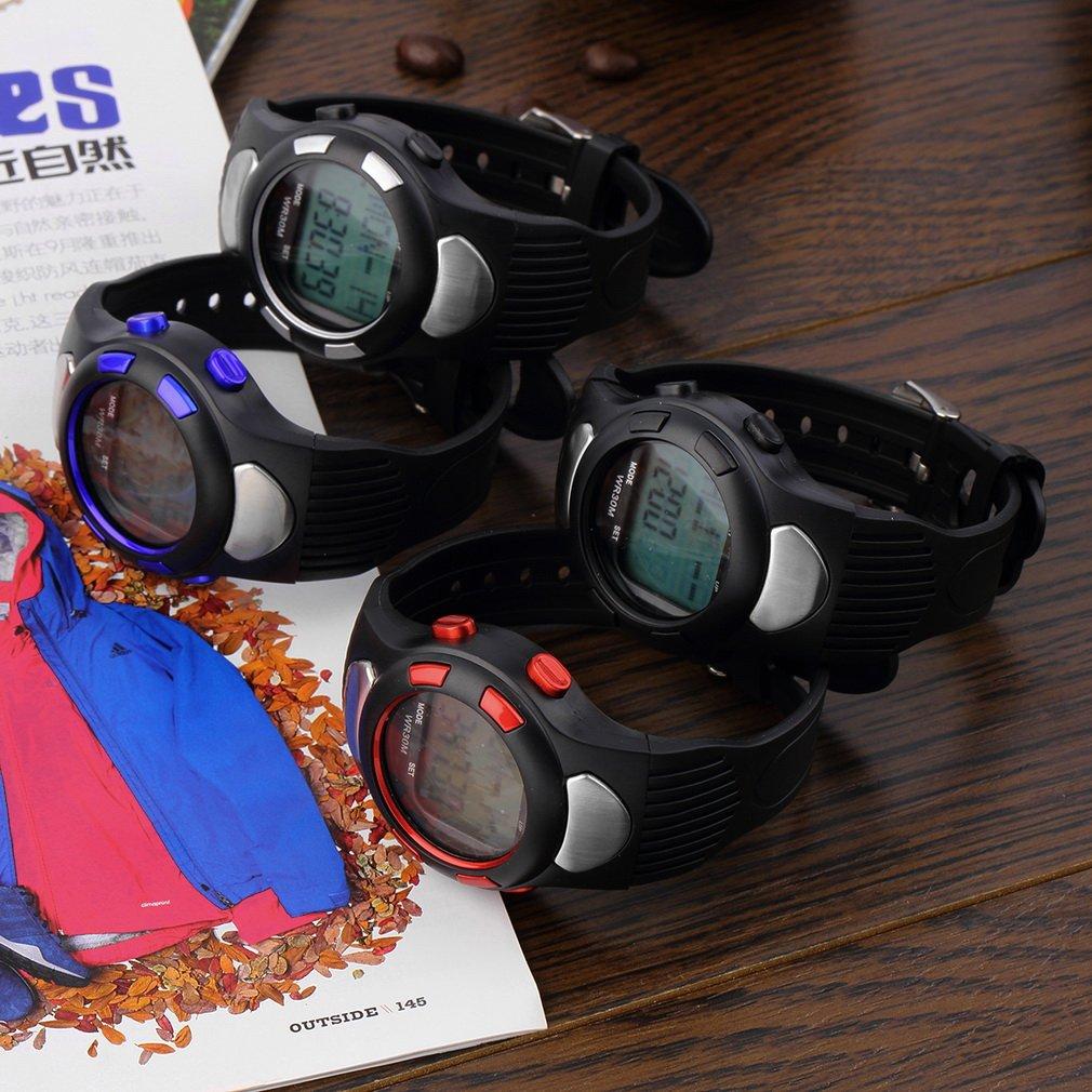 3D Pulse Heart Rate Monitor Calories Counter Pedometer Sport Watch Waterproof