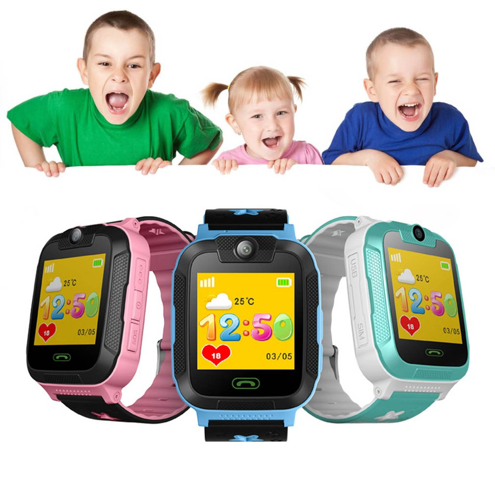 1.4 Inch Touch Screen Children Kids Smart Watch 3G Pedometer SIM Real Time Tracking Safety GPS Wrist Watch Gift