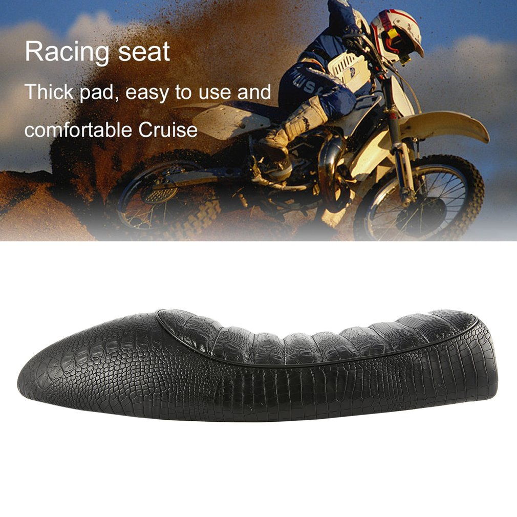 Waterproof Crocodile Grain Leather Vintage Hump Cafe Racer Seat for Honda CG