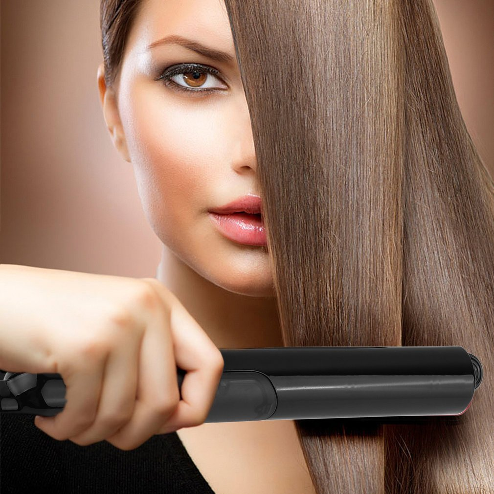 LESCOLTON Argan Oil Steam Curling Straightener with Safety Shut Off EU Plug