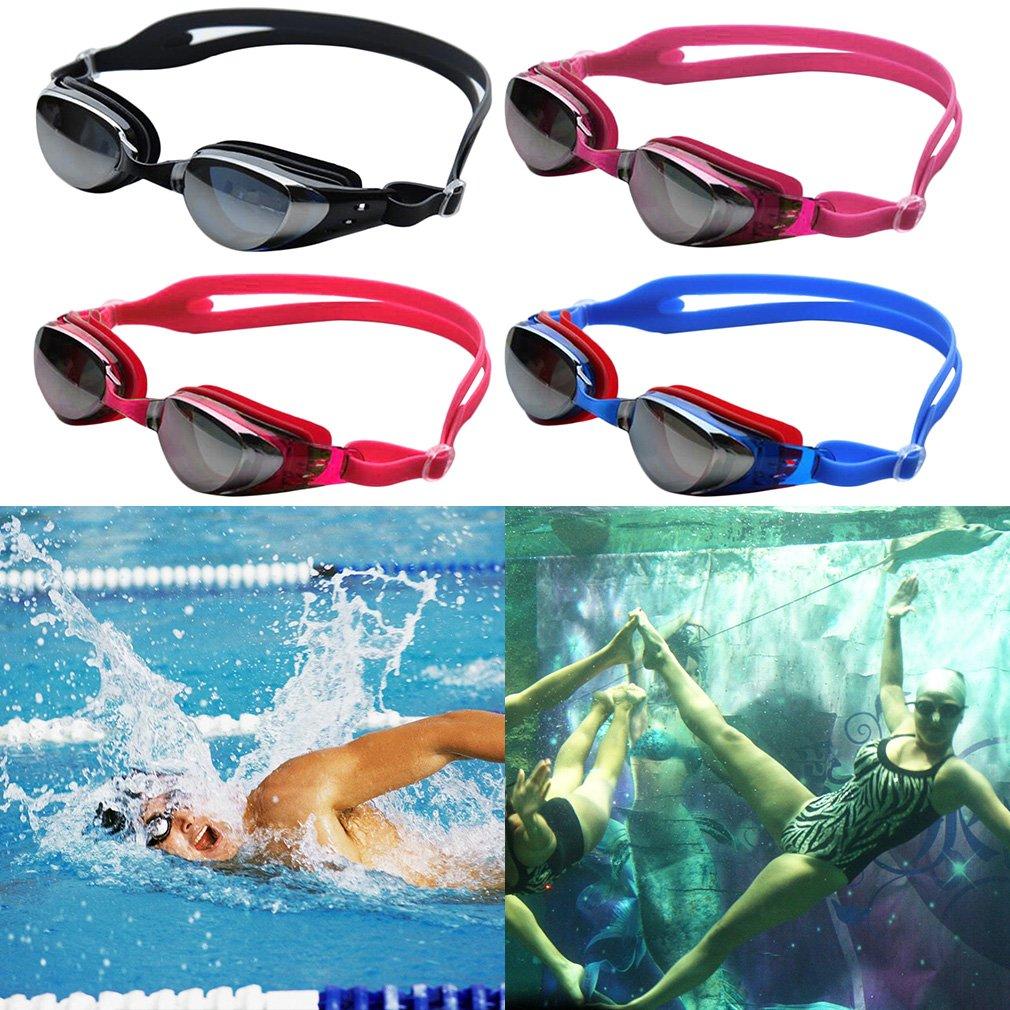 Adult Adjustable Waterproof Anti-Fog Mirror Swimming Goggles Portable