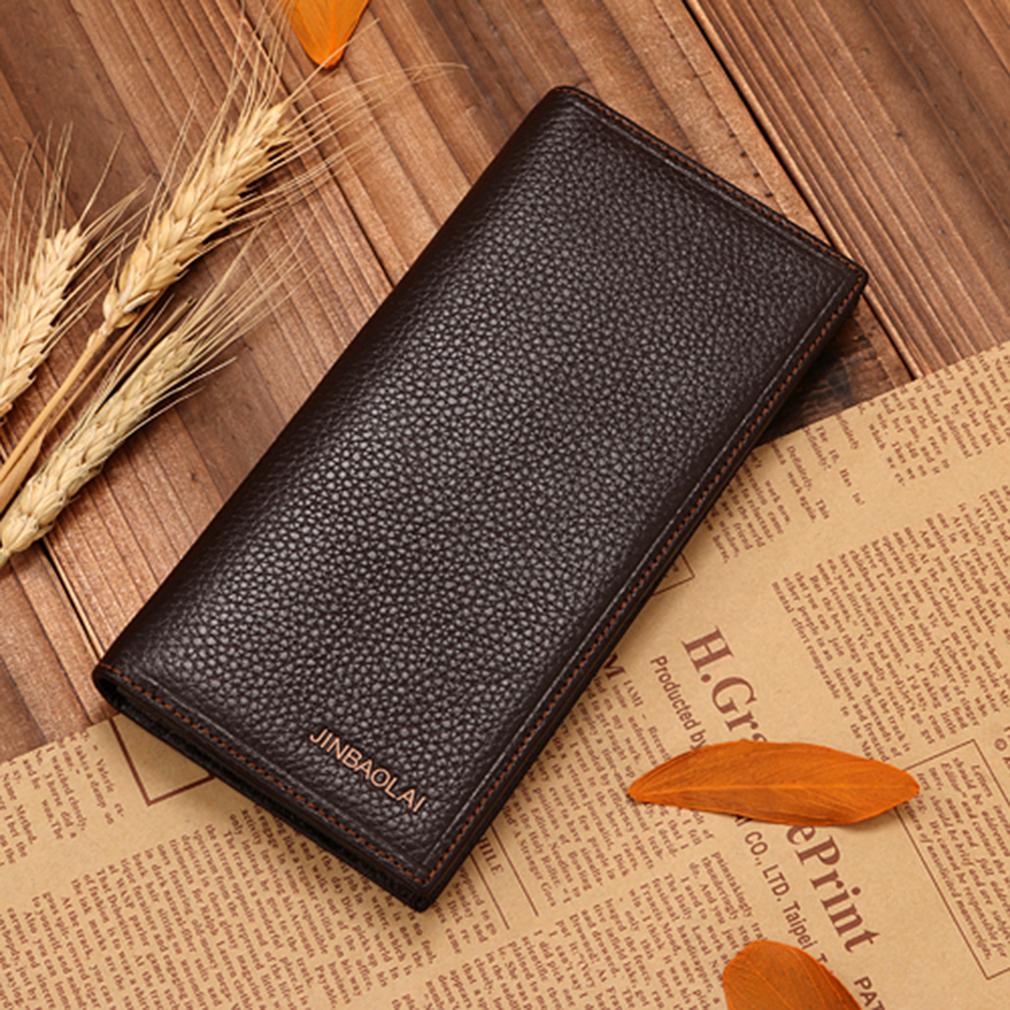 JINBAOLAI Man Purse Holding Cash Cards Opening Style Leather Horizontal Wallet
