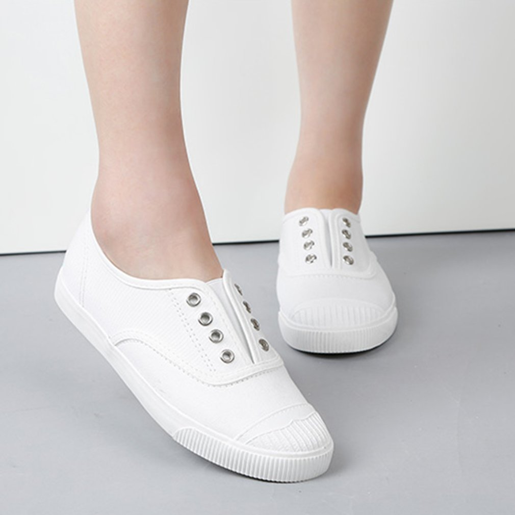 21019 Lady Fashion Breathable Canvas Shoes Female Students Woman Daily Wear
