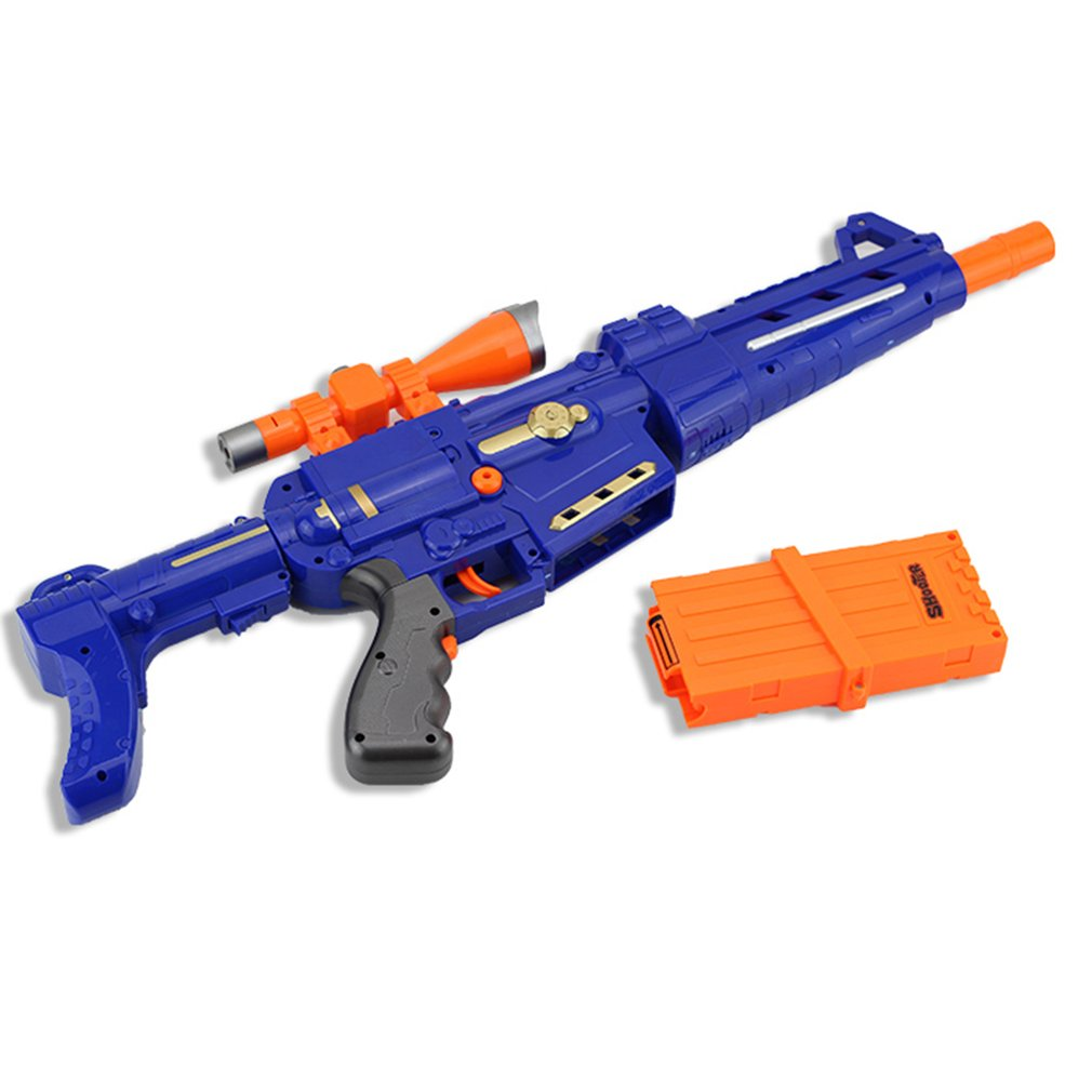 Q022 Electric Soft Bullet Gun Serial Shooting Target Gun Toy Model Rifle Guns