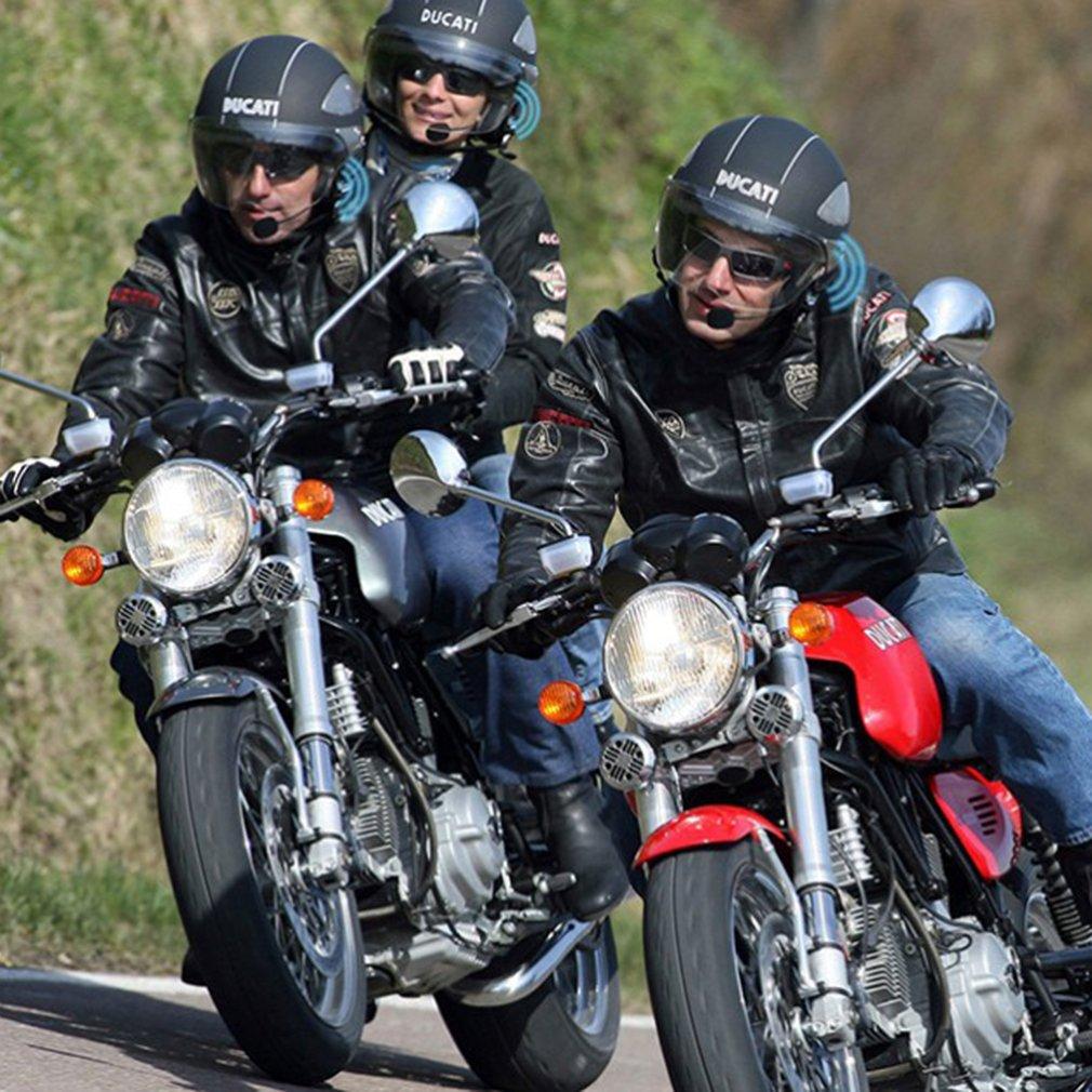 1 x 1200m Bluetooth Intercom for Motorcycle Helmet Headset Interphone
