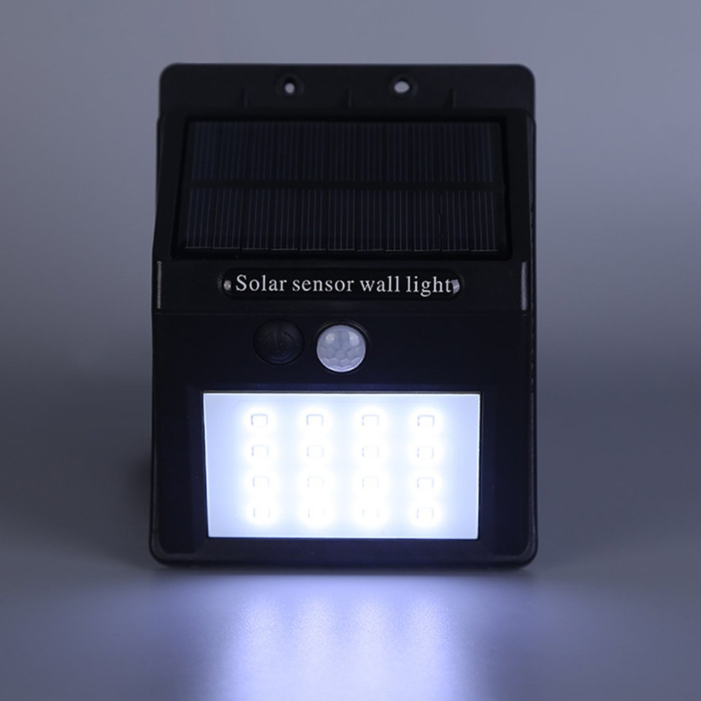Waterproof Solar Sensor Wall Light 16 LED Light Control Motion Sensor Light