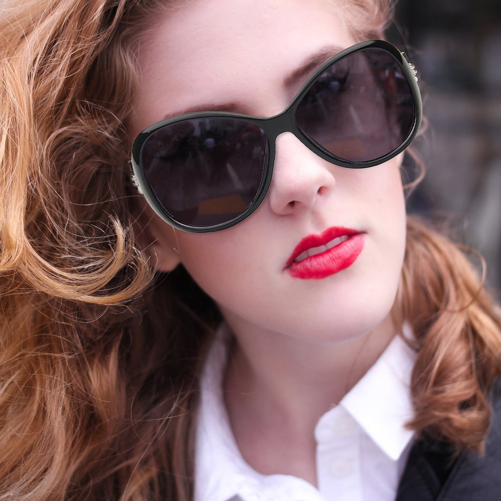 Fashion Woman Sunglasses Ultraviolet-proof Lens Large Frame Popular Oversize Sun Glasses Lady Eyewear For Summer Travel
