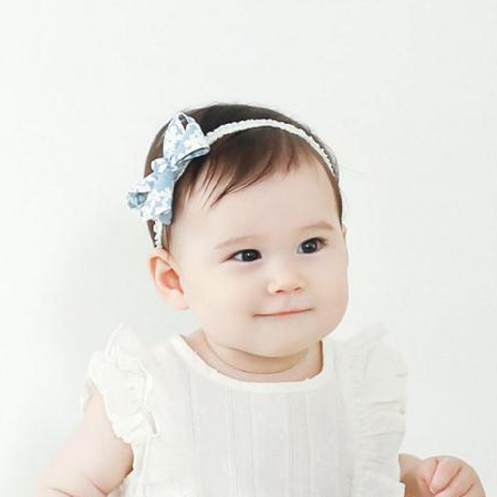 Cute Bowknot Baby Hairband Butterfly Knot Hair Band Floral Print Headband