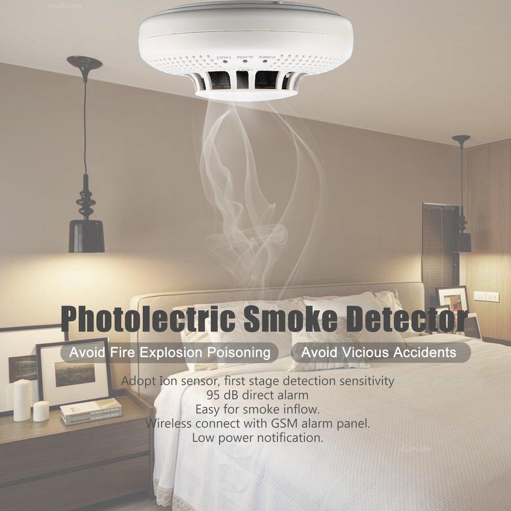 Photolectric Smoke Detector Alarm Lon Sensor Avoid Fire Explosion Poisoning