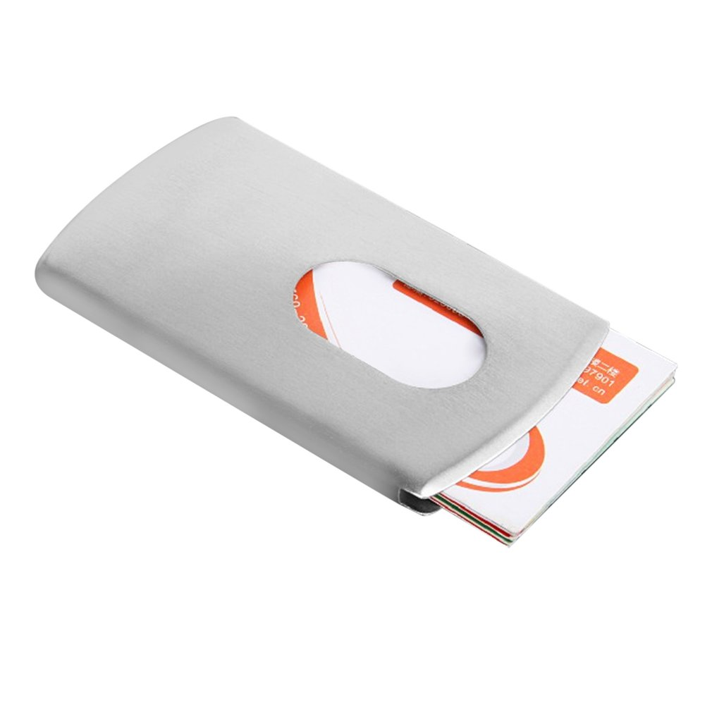 Metal Stainless Steel Card Money Clip Business Credit Card ID Holder Clip
