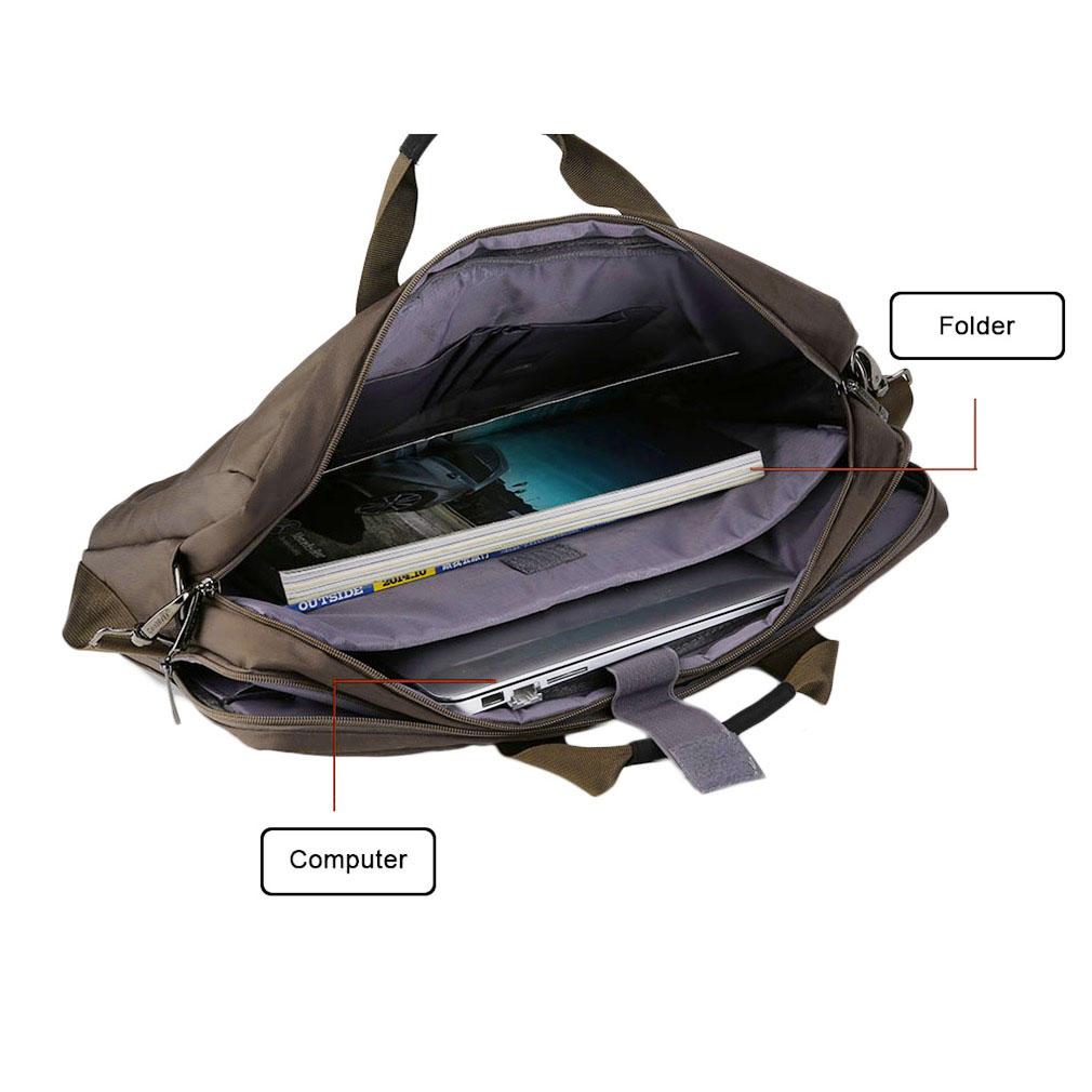 Laptop Bag Shockproof Waterproof Computer Bag Notebook Nylon Wear Resistant
