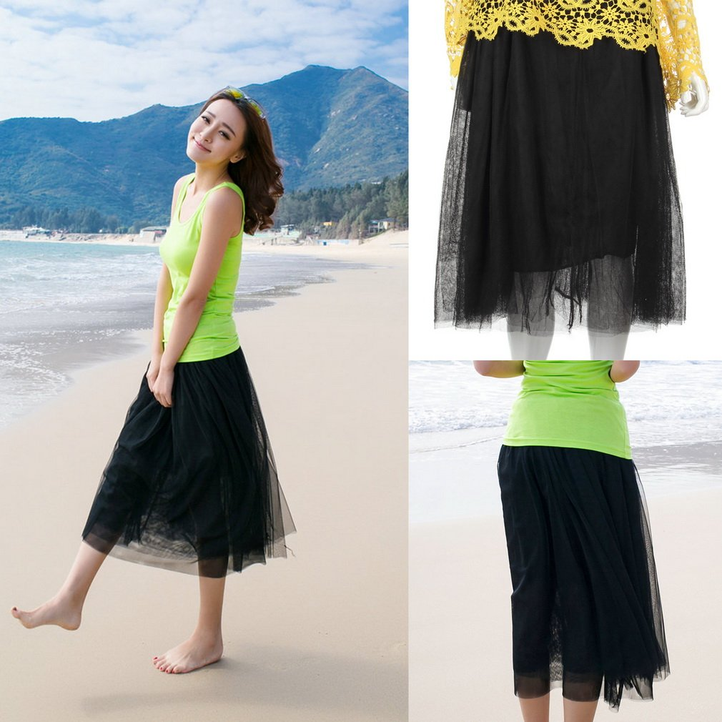 Fashion Sweet Cute Women Girl Princess Fairy Style Tulle Dress Bouffant Skirt