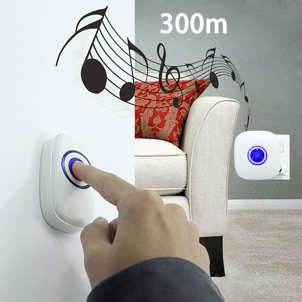 38 Tunes Wireless Digital Doorbell Waterproof Transmitter with Remote Control