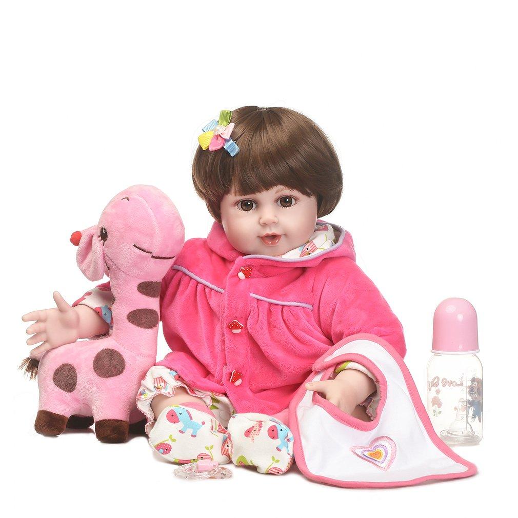 55cm 22 Inch Silicone Reborn Baby Simulation Doll Toy Newborn Lifelike Girl