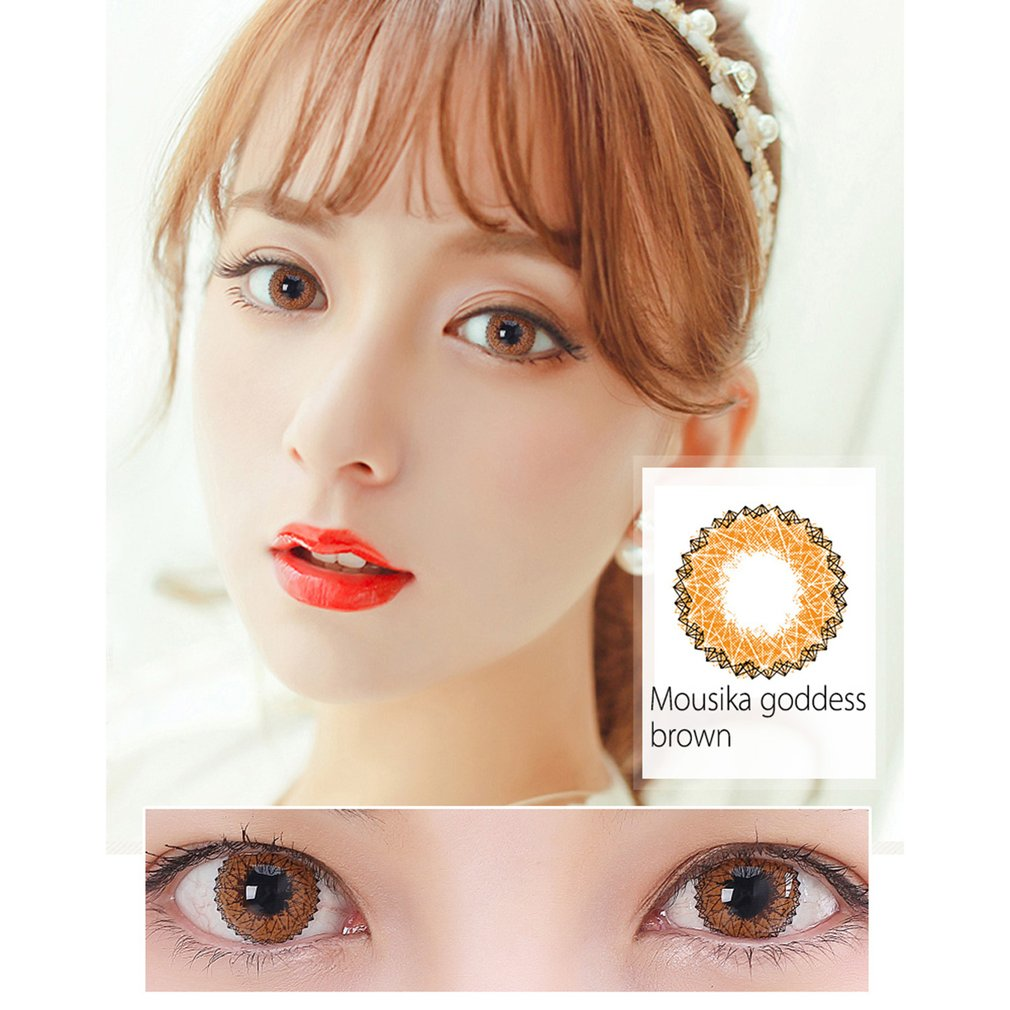 One Pair/set Beautiful Goddess Coloured Circle Big Eye Cosmetic Contact Lenses