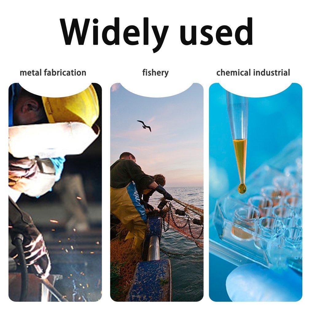 Anti-Slip PVC Gloves Oil Resistant Acid Resistant Chemical Safety Gloves