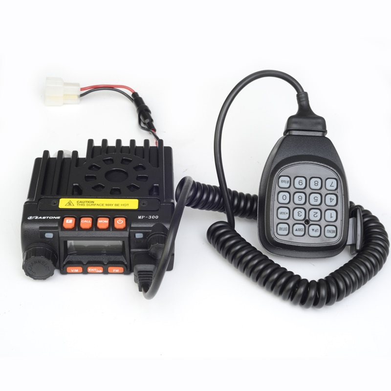 Zastone Base radio MP300 20W MINI 2-band radio 136-174/400-480MHz car radio MP-300 Vehicle Transceiver with Eliminator