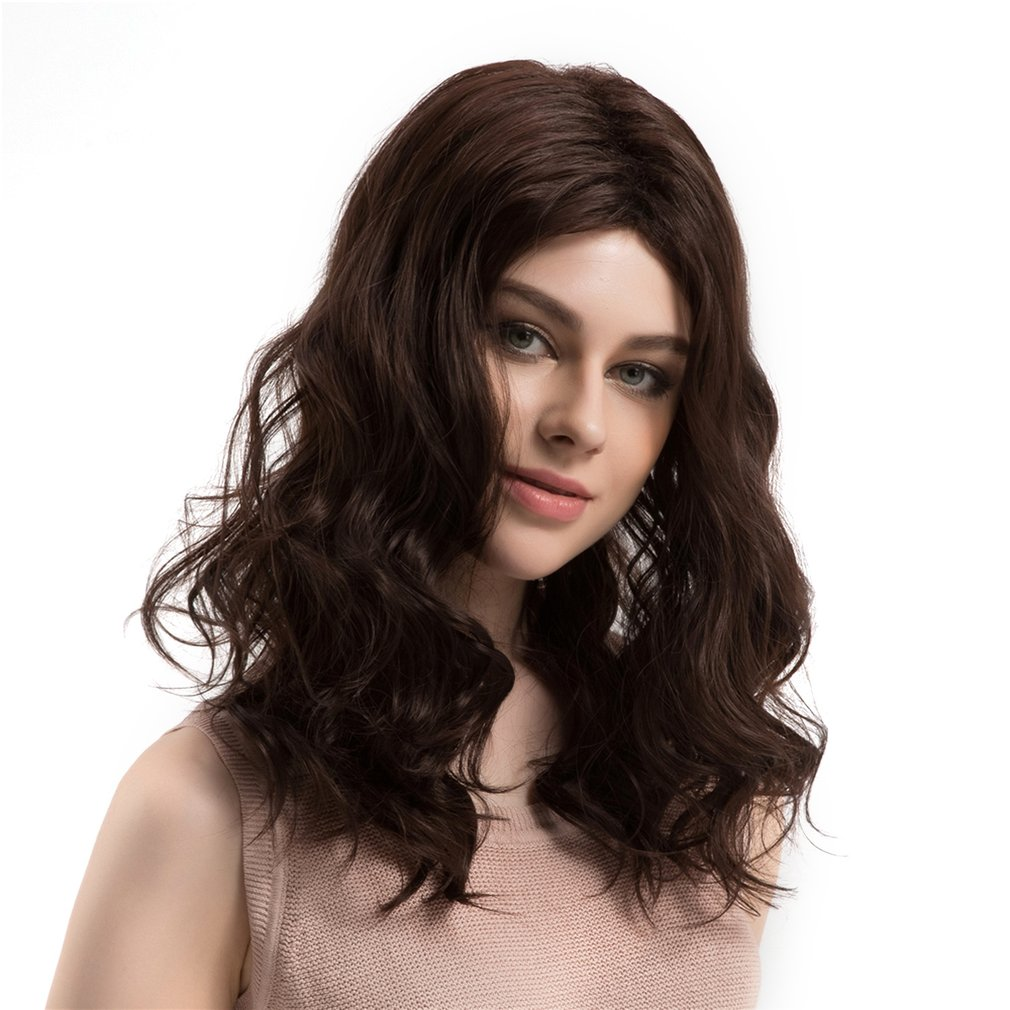 WIG365 Women Cosplay Wig Natural Synthetic Hair Long Wavy Light Brown Wig Hair