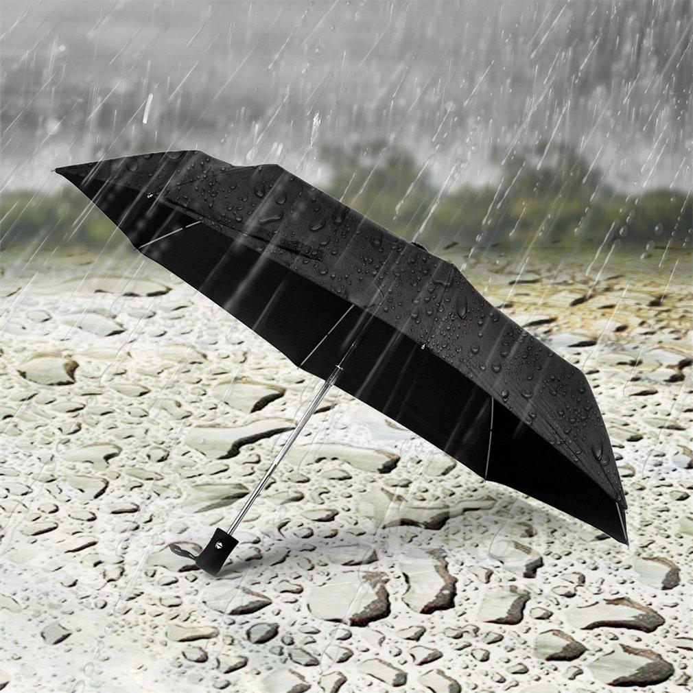 Three Folding 8K Sunny And Rainy Umbrella Automatic Outdoor All Season Parasol