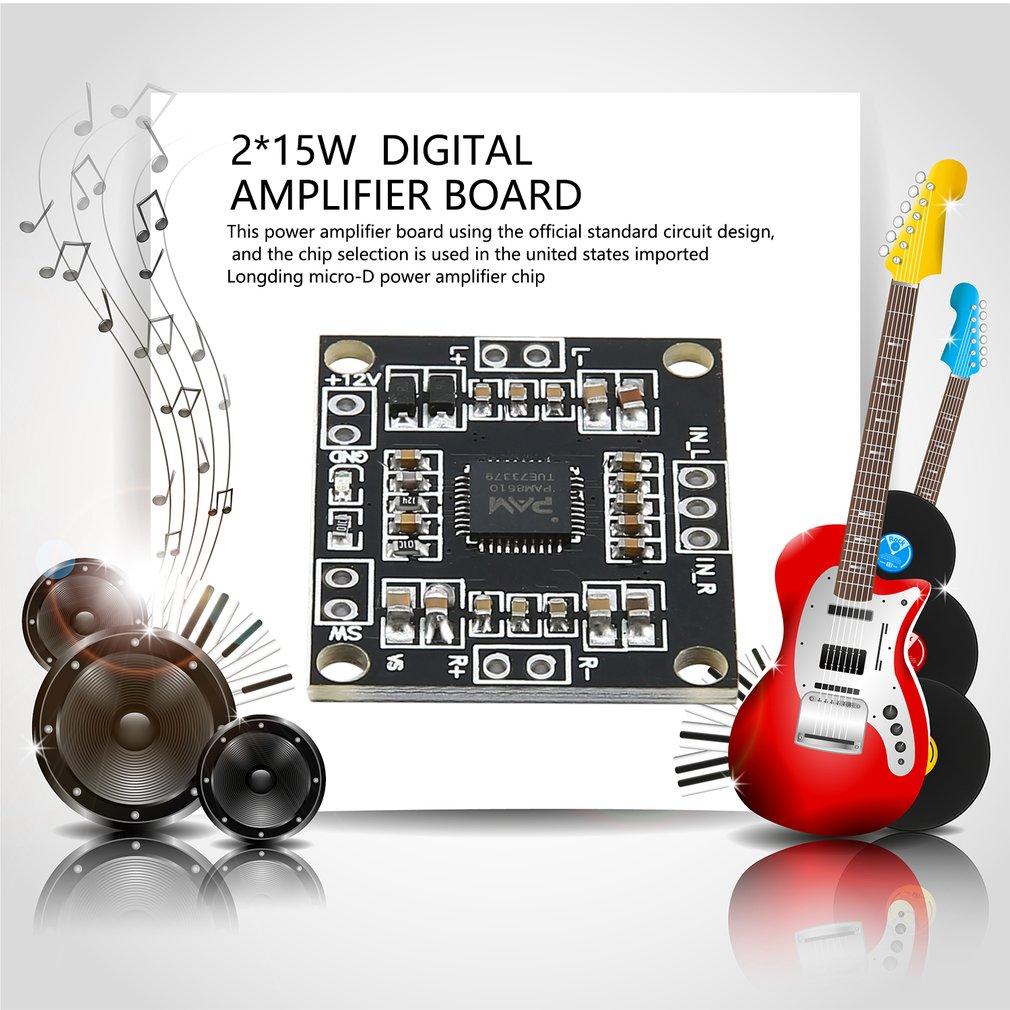 PAM8610 DC 12V 2*15W Dual Channel Stereo Class Digital Amplifier Board