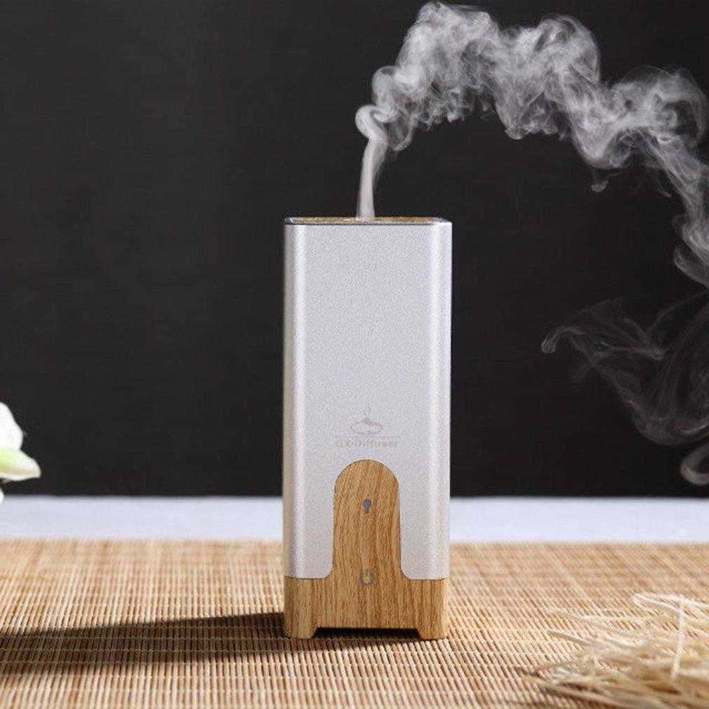 Square Air Humidifier Essential Oil Ultrasonic Wood Grain Car Aroma Diffuser