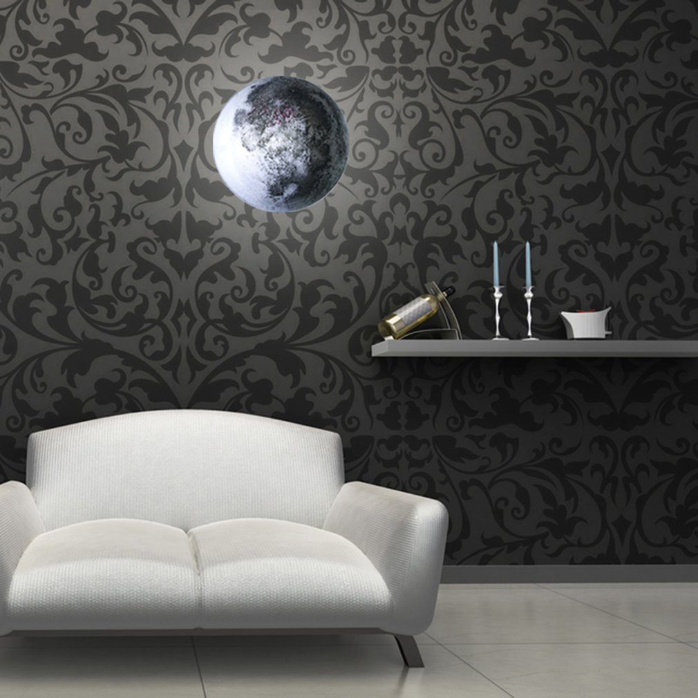 Simulation Moon Wall Lamp Remote Control Special Sweet Gift Night Light