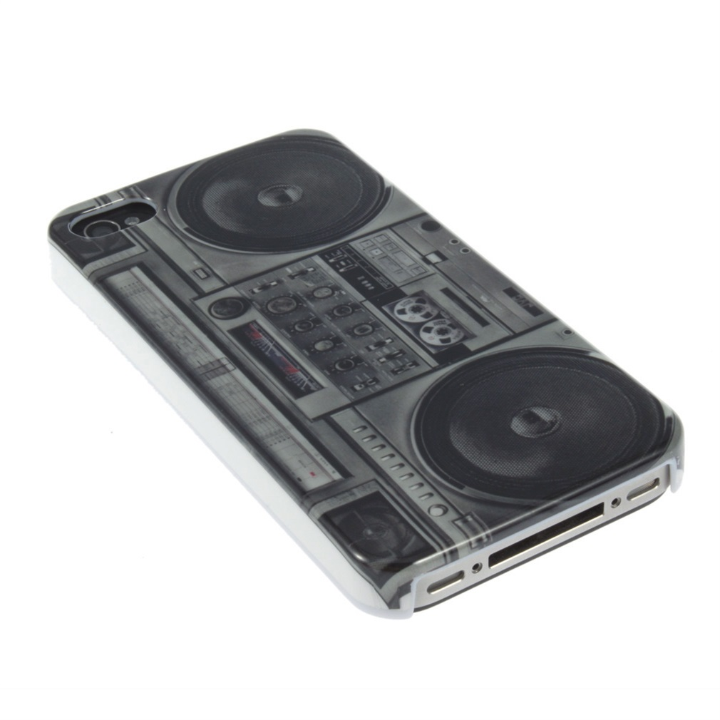 Old Radio-cassette Player Back Hard Case Cover Skin For Apple Iphone 4S 4G 4 Gen