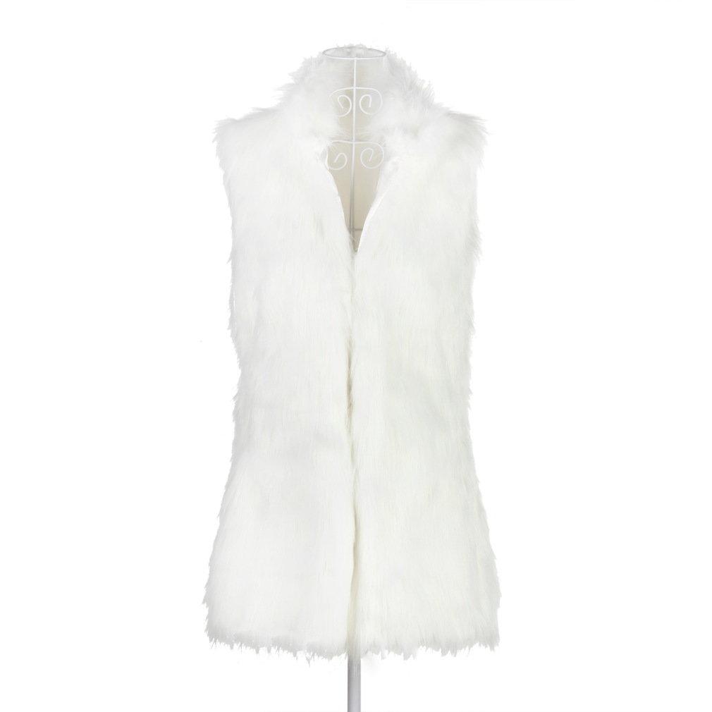 Girl Women Beautiful Faux Fur Lining Winter Long Vest Coat hot