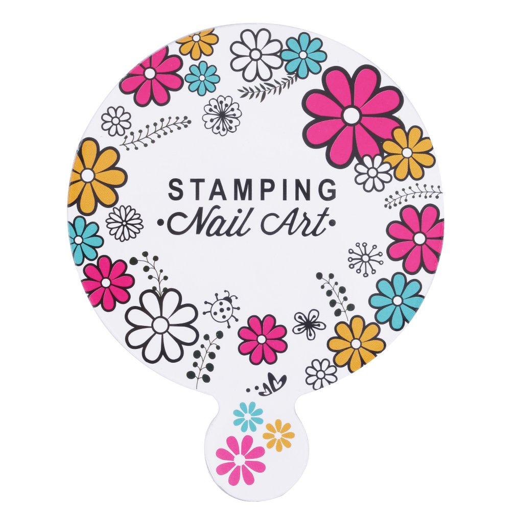 Nail Art Printing Plate Image Stamping Plates Manicure Template With Handle