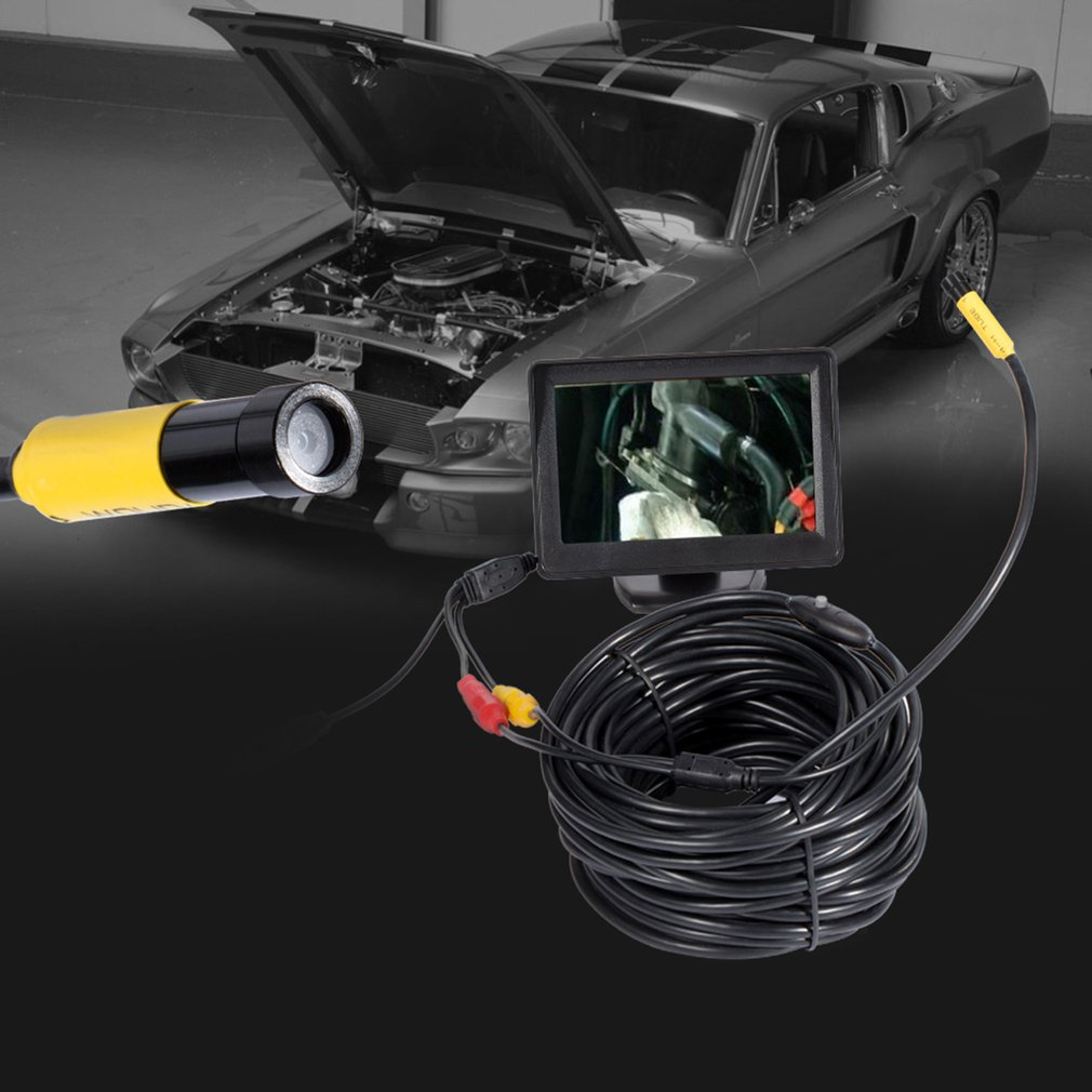 5.5mm Dia AV Waterproof Endoscope Inspection Cable 4.3inch TFT Color Monitor