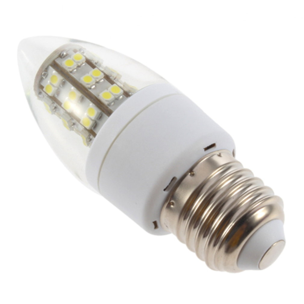 E27 2.5W 48LED Cool White 220V Corn Lamp With Transparent Cover