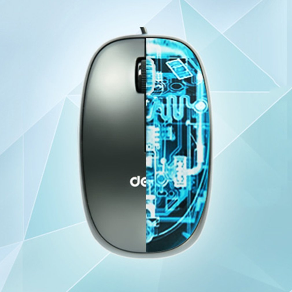 DELI 3715 Wired Mouse 5V/23mA 1000dpi No Need Driver Optical Gaming Mouse