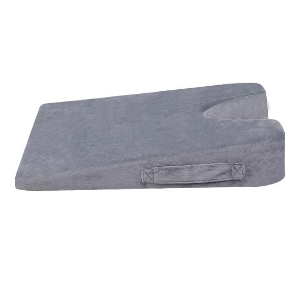 Memory Cotton Triangle Cushion U-shaped Hollow Gray 17 x 13 x 3.5/1
