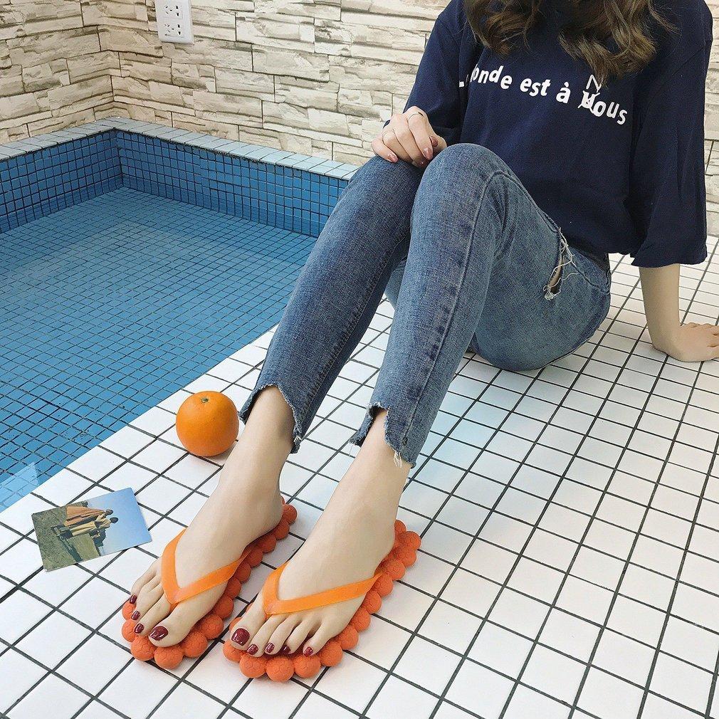 Fashion Women Summer Shoes Foot Massage Flat Shoes Anti-slip Flip Flops Sandals Slipper Indoor Outdoor Beach Shoes Casual Wear
