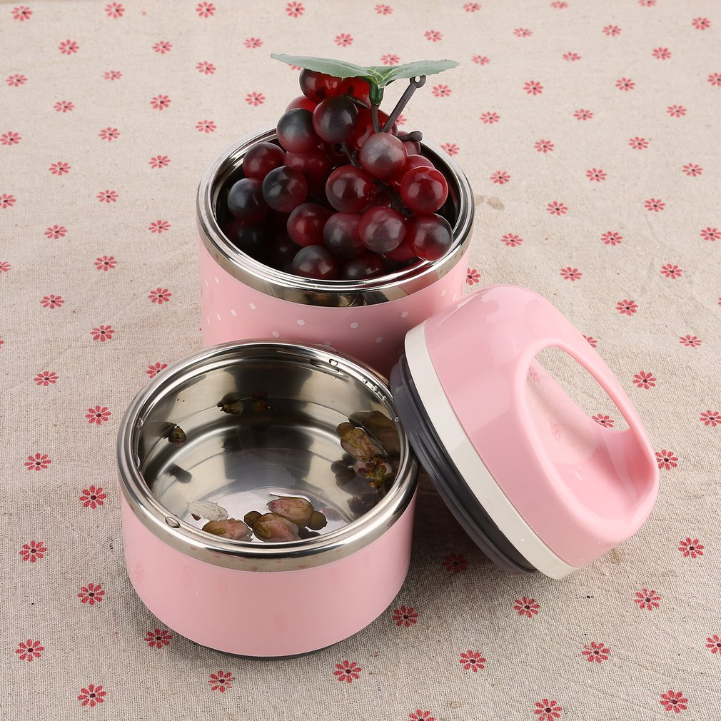 Cute Stainless Steel Thermal Lunch Picnic Container Food Storage for Kids