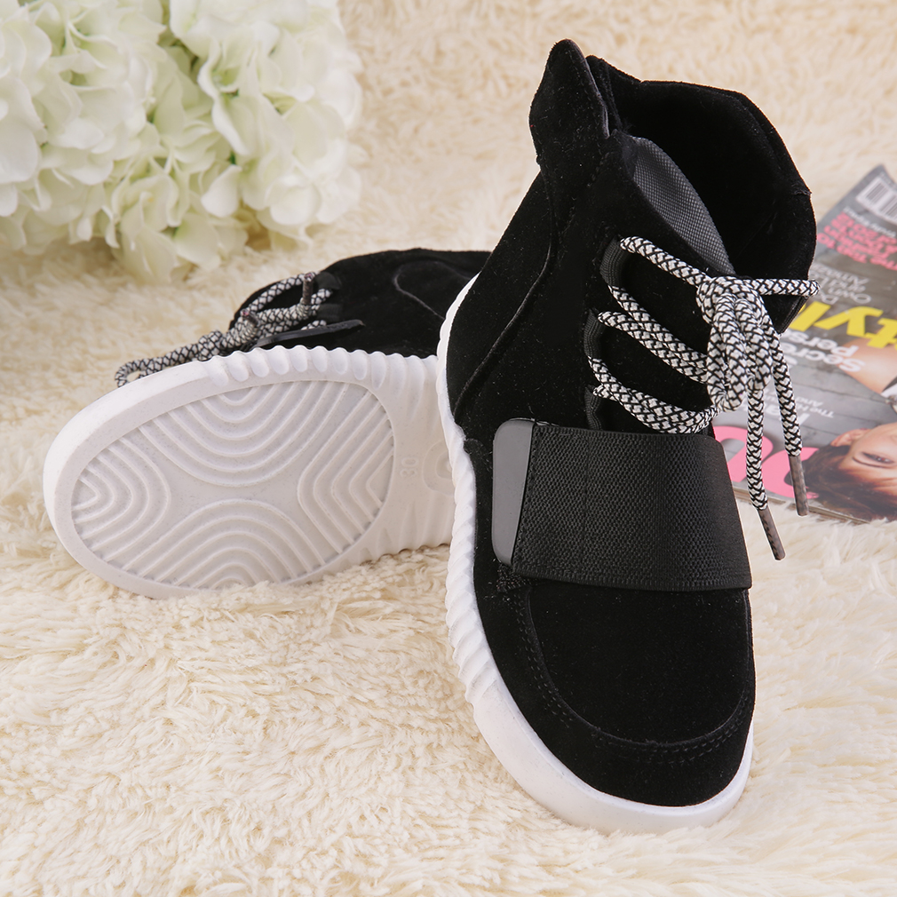 New Kids Boys Girls Lace Up Baseball Shoes Trainers Flats Size 26/30